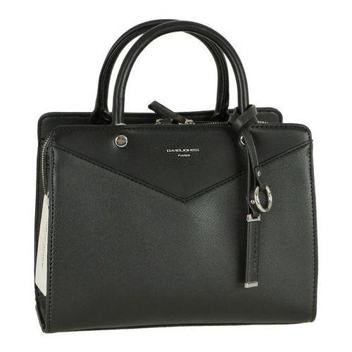 Nieduża klasyczna torebka damska DAVID JONES czarna - czarny, kolor czarny