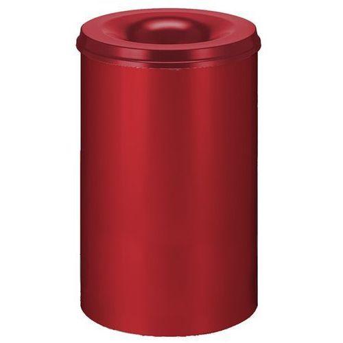 Vepa bins Kosz na papier, samogaszący, poj. 110 l, korpus czerwony / głowica gasząca czerw