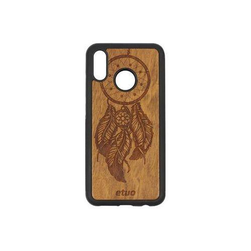 Huawei P20 Lite - etui na telefon Wood Case - Łapacz Snów - imbuia, ETHW677WOODLSI000