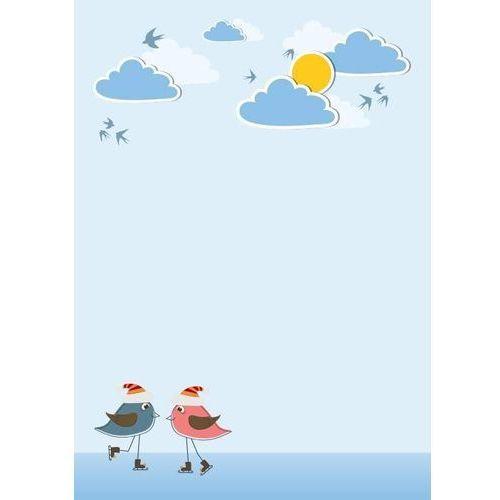 Wally - piękno dekoracji Tablica magnetyczna suchoscieralna dla dzieci ptaszki, chmurki 132