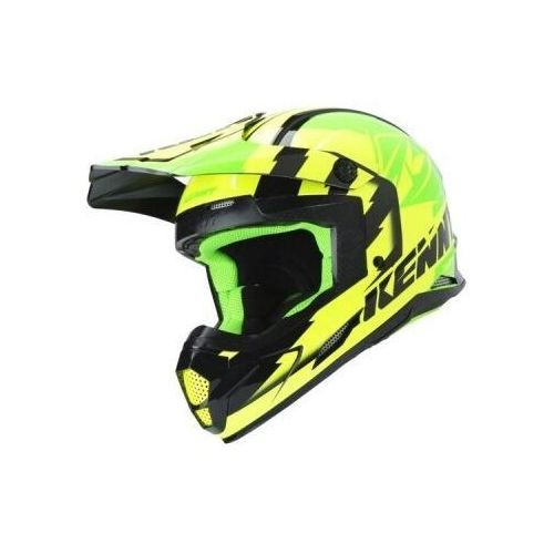 kask off-road track green/neon/yellow 2019 marki Kenny