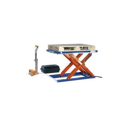 Płaski stół podnośny,dł. x szer. 1350 x 1270 mm, zakres podnoszenia do 900 mm, platforma zamknięta marki Edmolift
