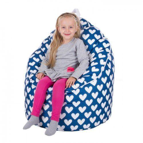 Pufa, fotel coccon xxl ekoskóra lub tkanina drukowana marki Polskie pufy
