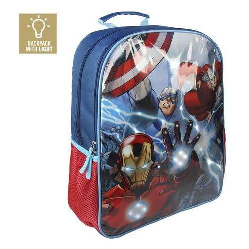 Plecak avengers ze światłami led 41 cm marki Cerda