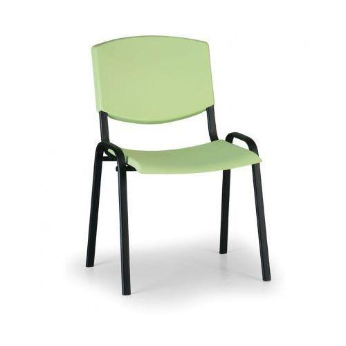Krzesło konferencyjne Smile, zielony - kolor konstrucji czarny