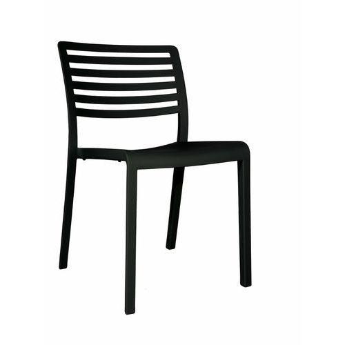 Krzesło kawiarniane z tworzywa sztucznego lama bez podłokietników marki Resol