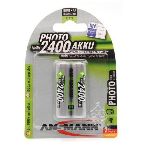 Ansmann 5030492 Typ Mignon AA 2400 mAh bateria akumulator hochkapazitiv Profi/vielan użytkowników końcowych Digital Foto-Pak