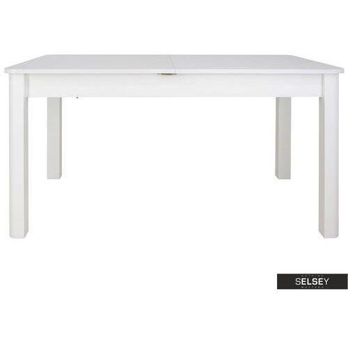SELSEY Stół rozkładany Eagor 140-190x84 cm zaokrąglonymi rogami biel alpejska