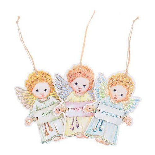 Aniołek zawieszka z imieniem dla chłopca marki Produkt polski