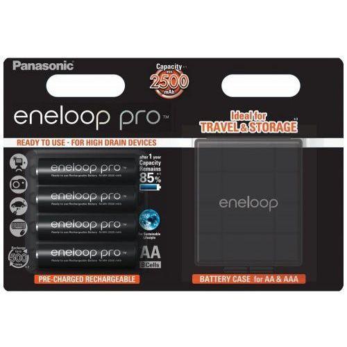 Panasonic Akumulator eneloop pro r6 aa 2500mah 4szt. + etui