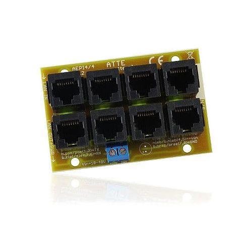 AEPI-4-10-OF / AEPI4/4 Moduł dystrybucji zasilania dla urządzeń IP/LAN w standardzie POE, AEPI-4-10-OF