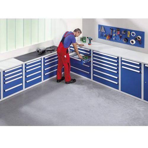 Szafka na narzędzia, szerokość 600 mm, wys. 1000 mm, szuflady 2x100 mm, drzwi 1x