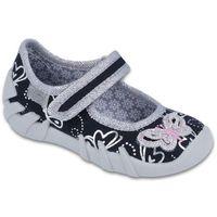 Befado buty dziewczęce Speedy 25 czarny/szary (5907669016999)