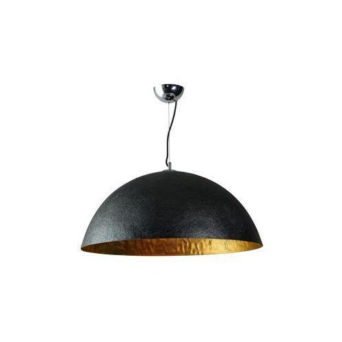 Eth Lampa wisząca loft 70cm mezzo tondo czarna złota