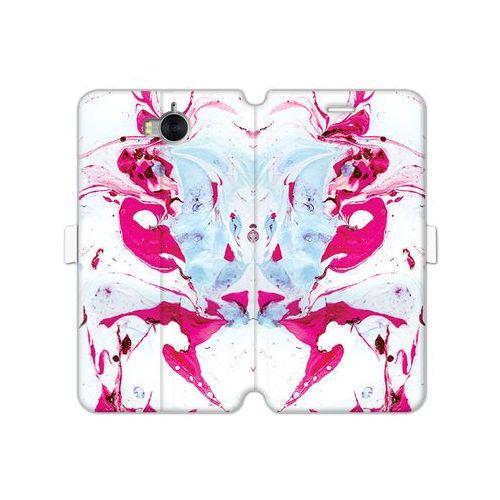 Huawei y5 (2017) - etui na telefon wallet book fantastic - różowy marmur marki Etuo wallet book fantastic