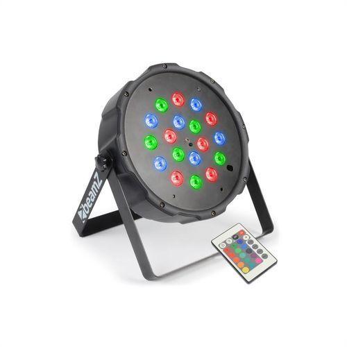 beamZ FlatPAR 18 x 1W Projektor PAR RGB LED DMX IR z pilotem, kup u jednego z partnerów
