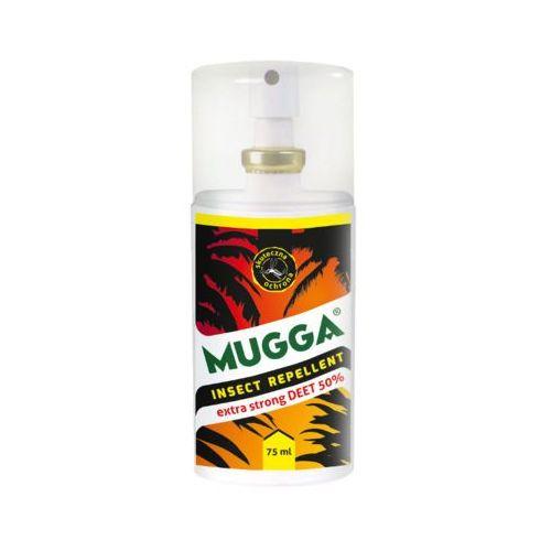75ml spray na komary, kleszcze i muchy extra strong deet 50% marki Mugga