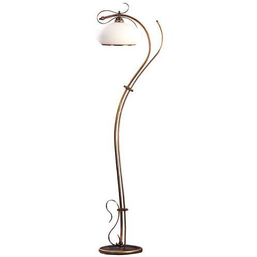 Lampa stojąca klasyczna podłogowa Aldex Patyna II 1x60W E27 patyna / biały 212A2/A1