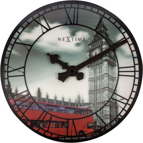 Nextime Zegar ścienny big ben 3d 39 cm, wieża pałacu westminsterskiego (3136)