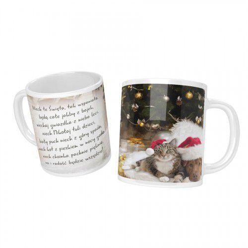 Kubek na Boże Narodzenie, pies i kot