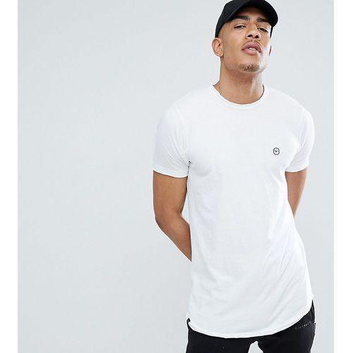 Le Breve TALL Raw Edge Longline T-Shirt - White