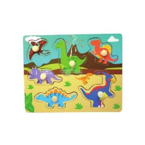 Smily play Układanka drewniana małe dinozaury wts-62817