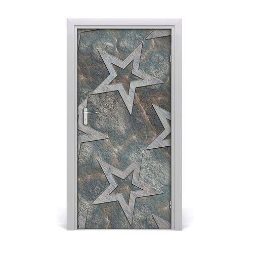 Naklejka samoprzylepna na drzwi Kamienne gwiazdy