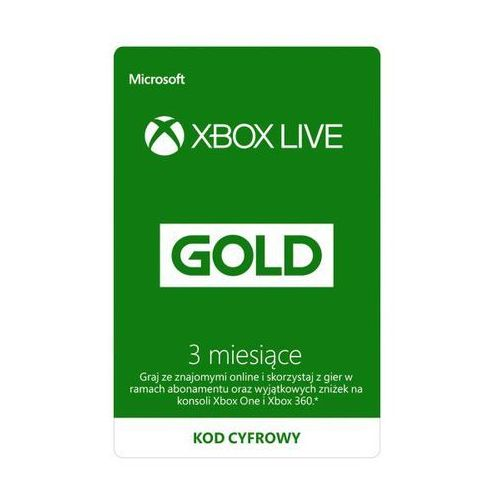 Subskrypcja xbox live gold (3 m-ce) [kod aktywacyjny] marki Microsoft