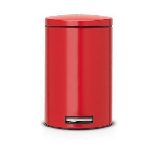 Brabantia  - kosz pedałowy silent - wiaderko plastikowe – 12l - czerwony passion