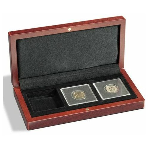 Etui mahoniowe na 3 monety VOLTERRA - wysyłka 24 h!