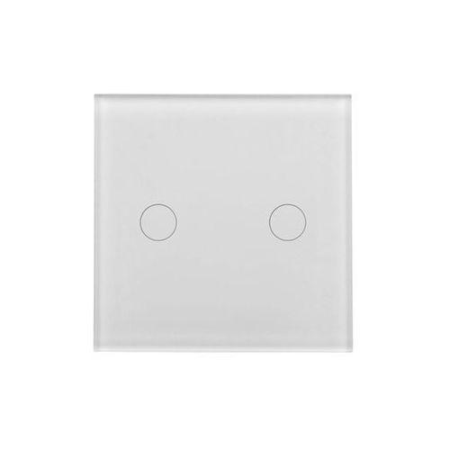 Polmark Wyłącznik włącznik podwójny biały