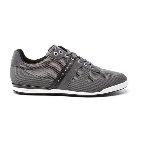 men's arkansas knitted suede trainers - dark grey - uk 7, marki Boss green