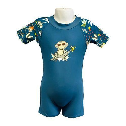 Strój kąpielowy kombinezon dzieci 108cm filtr UV50+ - Petrol Jungle \ 108cm (9330696049863)
