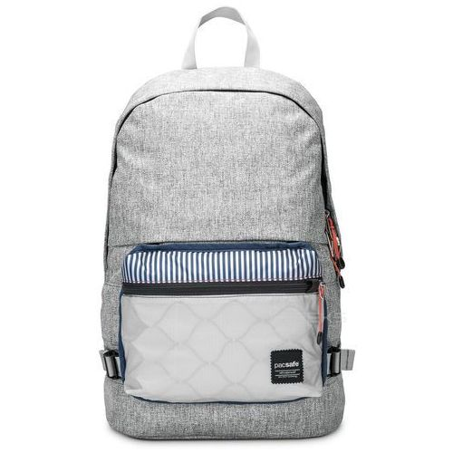 "Pacsafe Slingsafe LX400 plecak miejski na laptop 15"" RFID / szary - Tweed Grey, kolor szary"