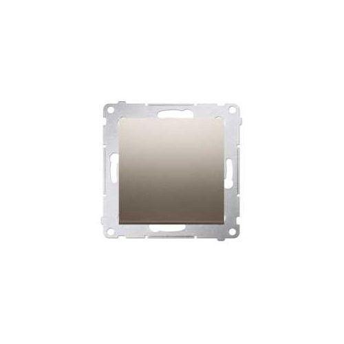OKAZJA - Kontakt-simon Przycisk pojedynczy simon 54 dp1a.01/44 zwierny bez piktogramu złoty mat (5902787823481)