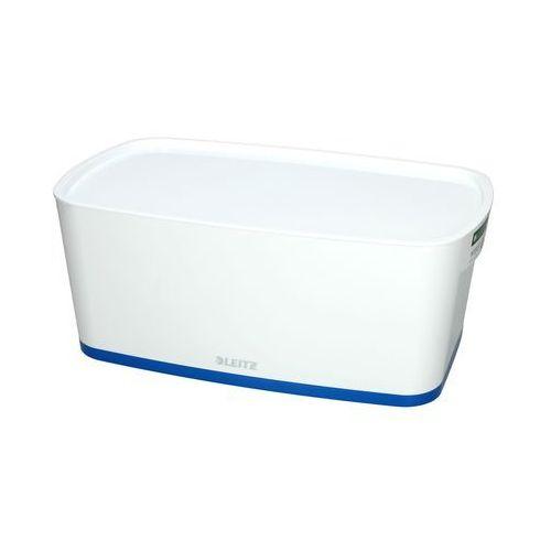 Pojemnik mały z pokrywką biało/niebieski mybox leitz marki Esselte
