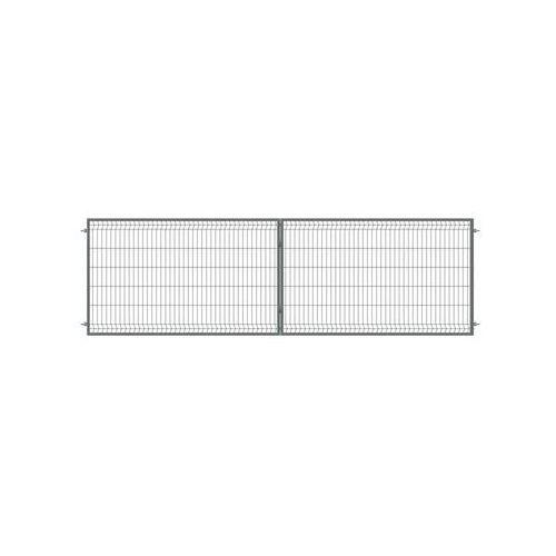 Polbram Brama dwuskrzydłowa stark 400 x 120 cm antracytowa