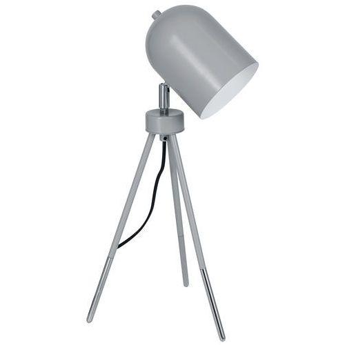 Lampka biurkowa Luminex Table Lamps 8431 lampa stołowa 1x60W E27 szara / chrom (5907565984316)