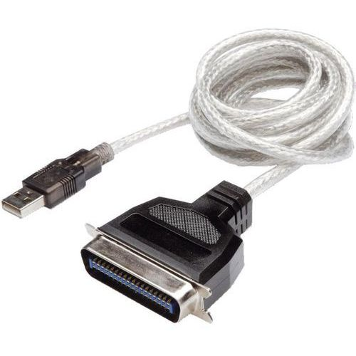 Kabel USB 1.1 Digitus DC USB-PM1, [1x złącze męskie USB 1.1 A - 1x złącze męskie Centronics], 1.8 m, przezroczysty, DC USB-PM1