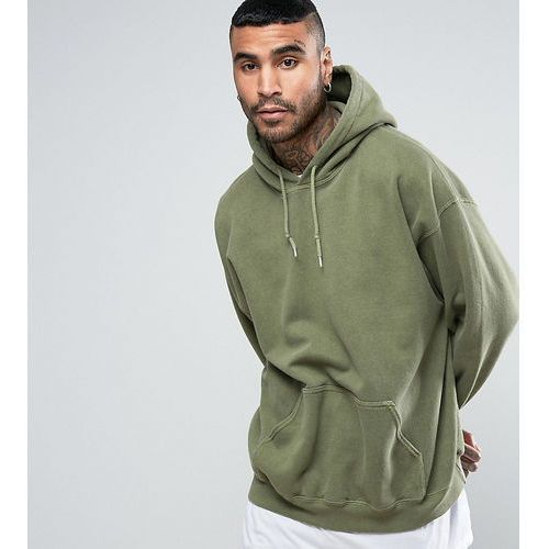 Reclaimed Vintage inspired oversized hoodie in green overdye - Green