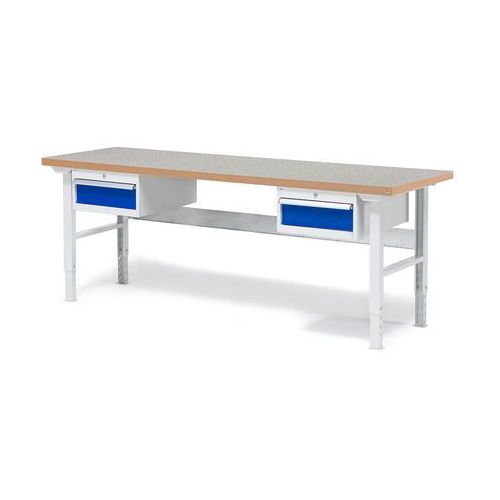 Stół warsztatowy z 2x 1szuflada z blatem o powierzchni winylowej obciążenie 500kg marki Aj produkty