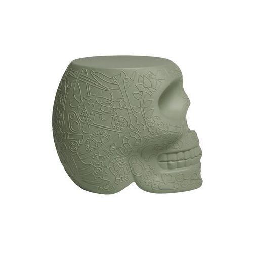 Qeeboo czaszka stołek i stolik boczny mexico zielony 70001lg