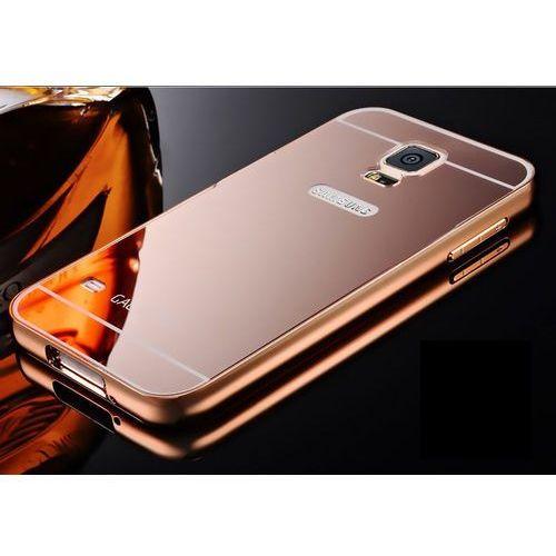Zestaw | Mirror Bumper Metal Case Różowy + Szkło ochronne Perfect Glass | Etui dla Samsung Galaxy S5 / S5 Neo - produkt z kategorii- Futerały i pokrowce do telefonów
