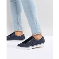 underspin leather trainers in navy - navy marki Fred perry