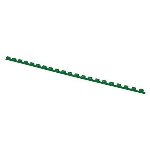 Office products Grzbiety do bindowania , a4, 6mm (25 kartek), 100 szt.,zielone