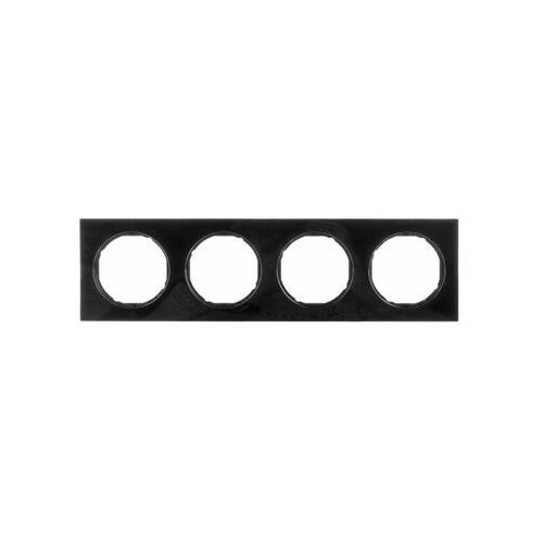 BERKER R.3 Ramka 4-krotna, czarny, połysk 10142245, 10142245