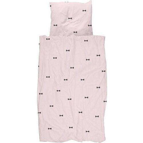 Pościel Bow Tie różowa pojedyncza 135 x 200 cm