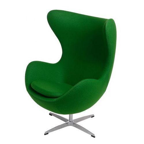 D2.design Fotel jajo inspirowany egg kaszmir - zielony (5902385707237)