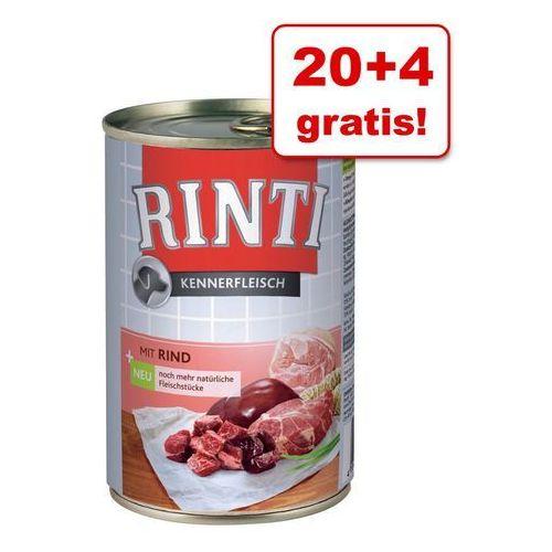 Rinti 20 + 4 gratis! pur, 24 x 400 g - jagnięcina| dostawa gratis + promocje| -5% rabat dla nowych klientów