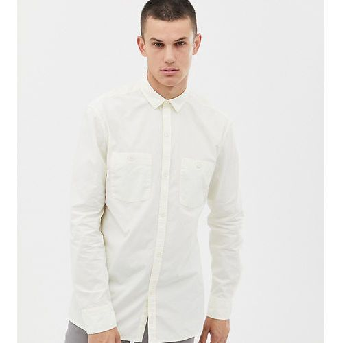 Noak regular fit shirt with double pockets in off white - Green, kolor zielony